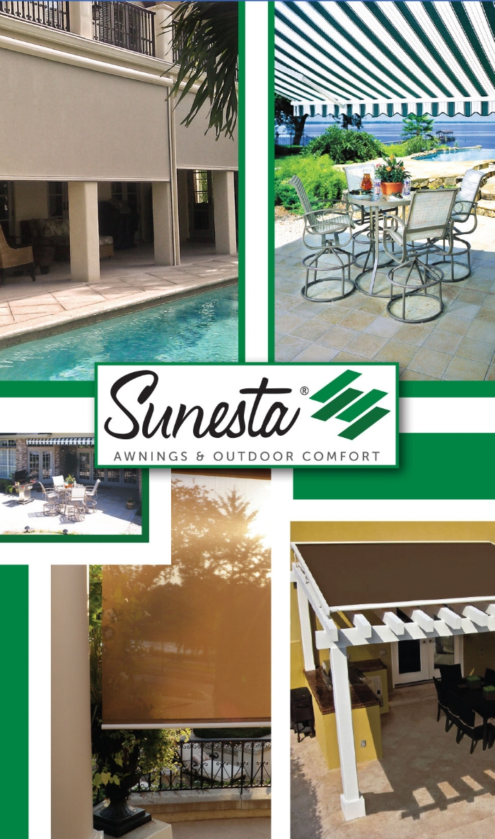 sunbrella and deck products retractable awnings sunesta canopies awning