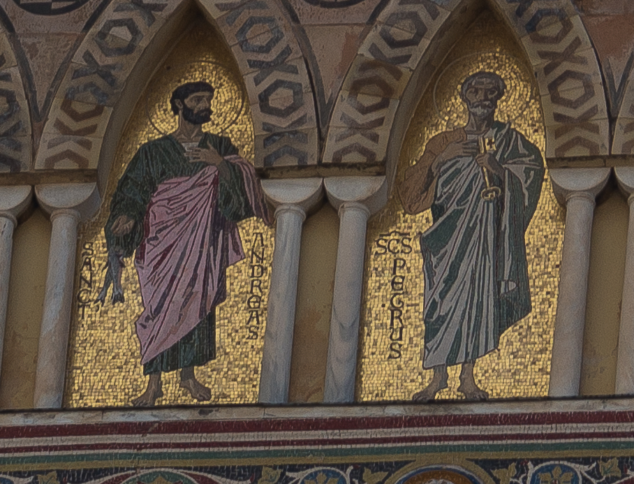 Detail of Saint Andrew and brother, Saint Peter