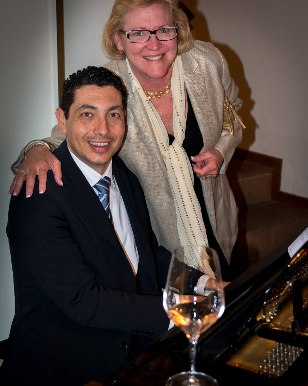The piano player adds special charm to your evening