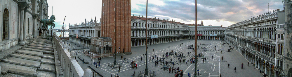 Panorama of Piazza San Marco taken from the balcony of Basilica San Marco