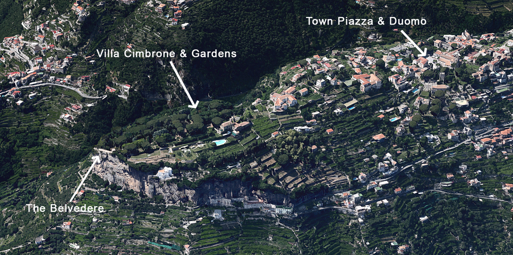 A birds-eye view of the Ravello escarpment
