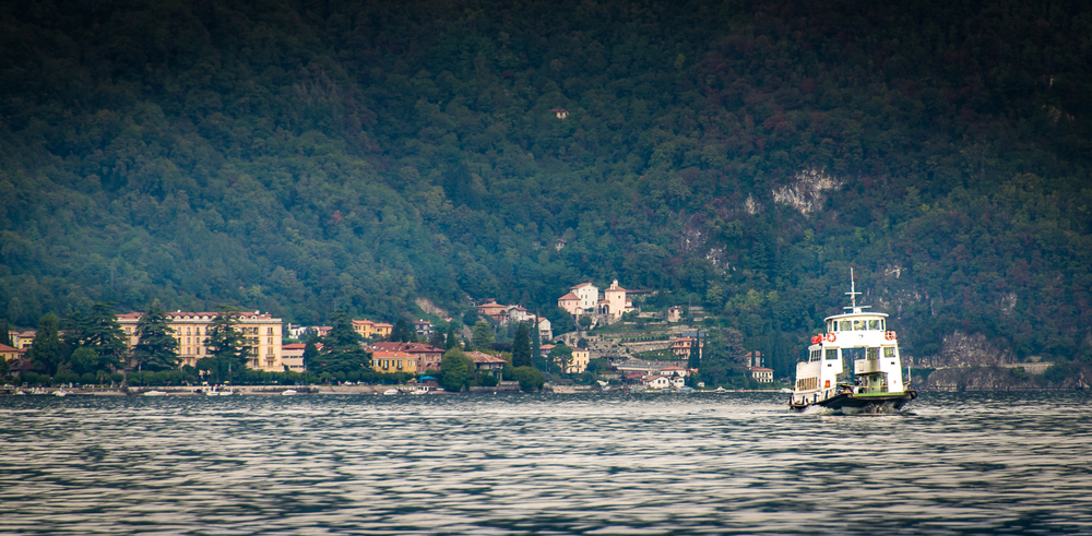 As we approach Bellagio, we see one of the auto ferries that travels between Bellagio, Menaggio and Varenna