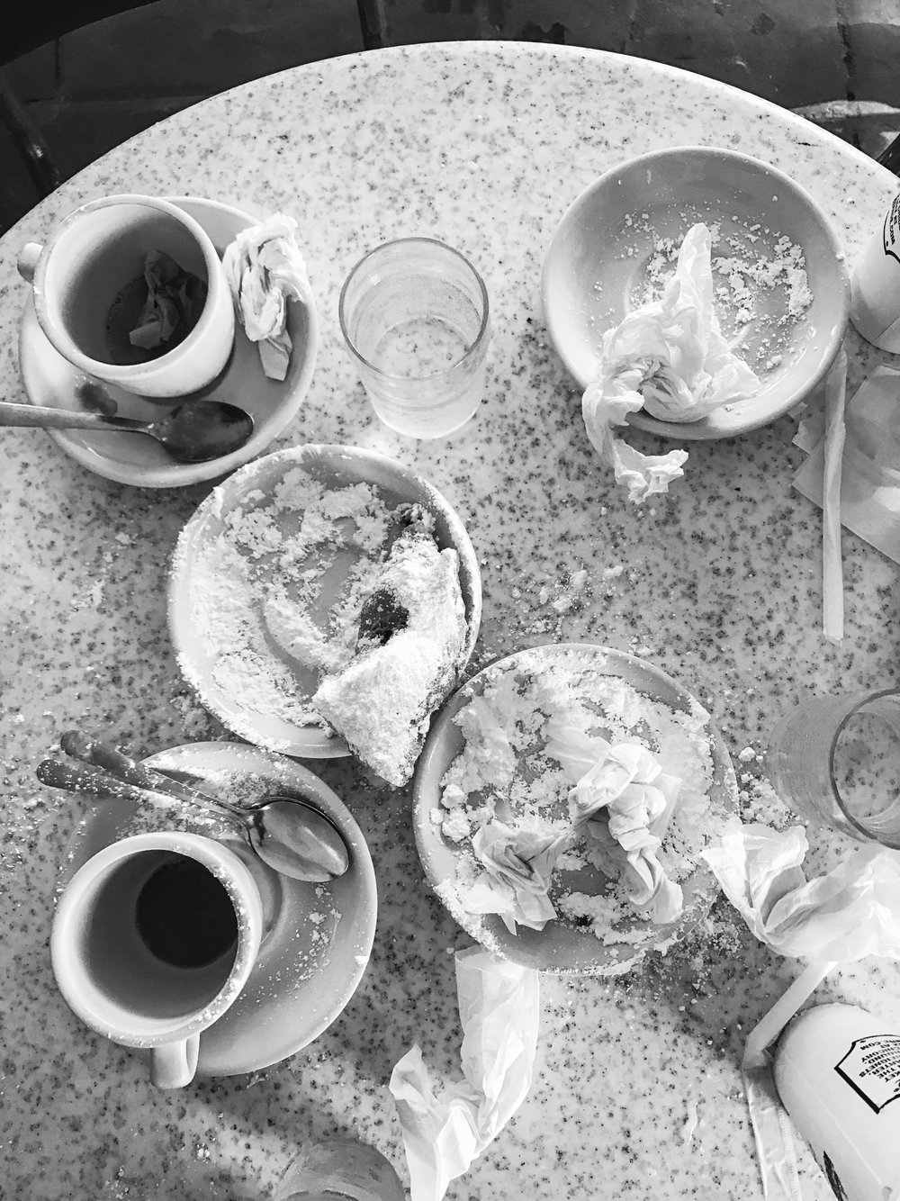 Cafe Du Monde -- Detritus