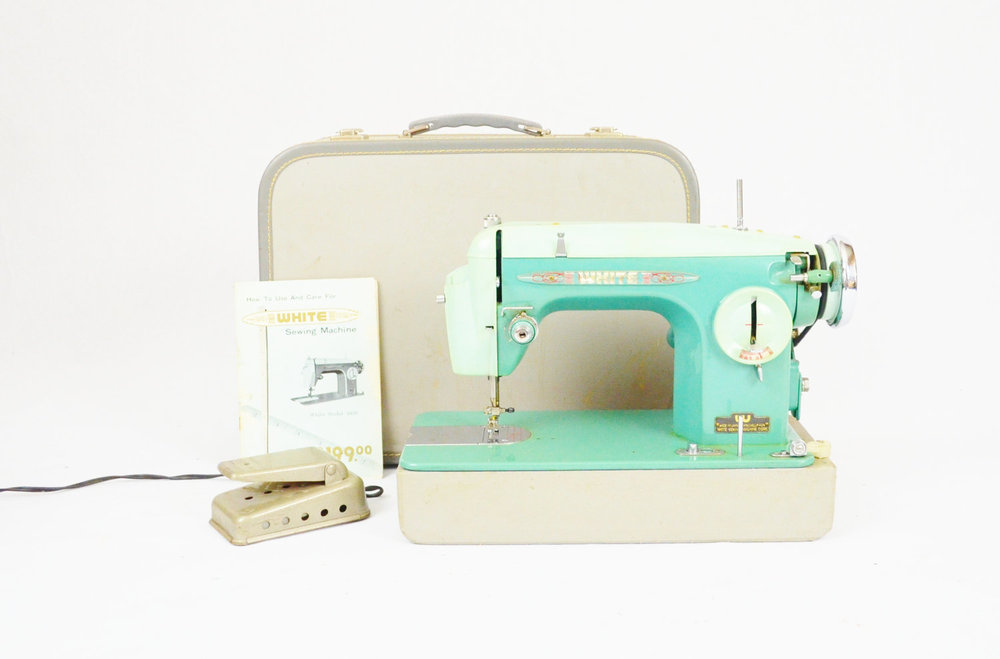 Vintage Mid-Century Sewing Machine from  LuccaBalesVintage