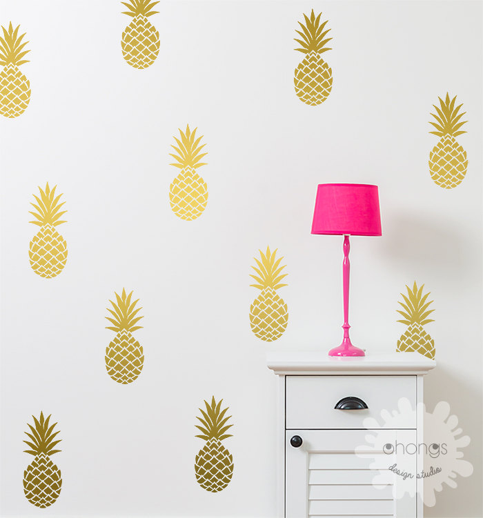PINEAPPLE WALL DECAL FROM OHONGSDESIGNSTUDIO