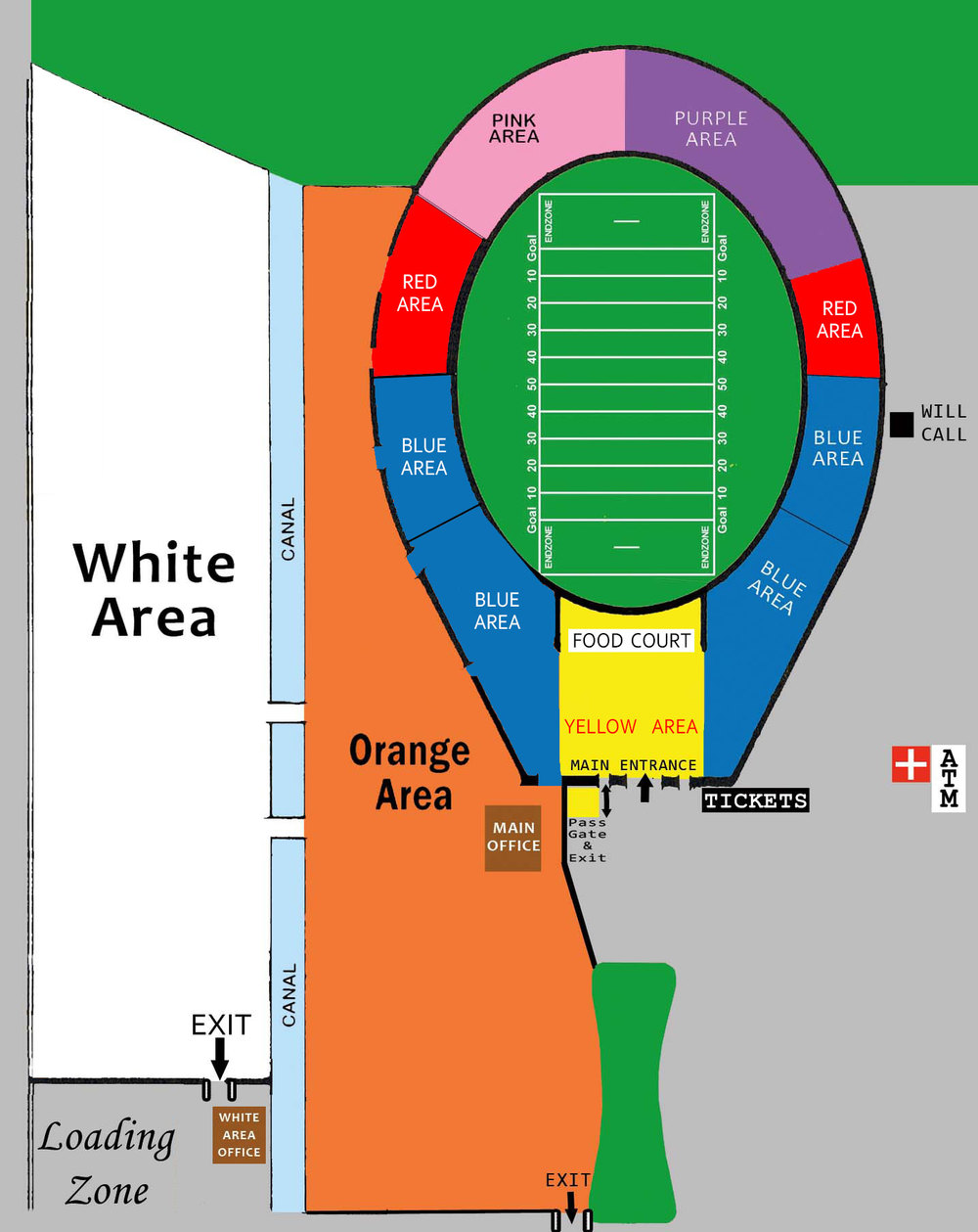 GENERAL MAP OF ROSE BOWL FLEA MARKET VIA R.G. CANNING ATTRACTIONS
