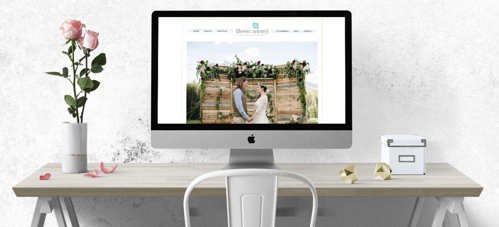 WEB DESIGN FOR  FLOWER ARTISTRY
