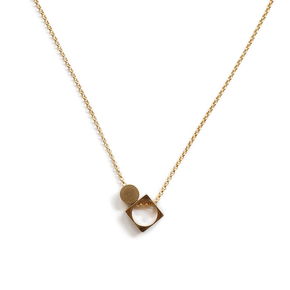 Asymmetrical Signature Necklace