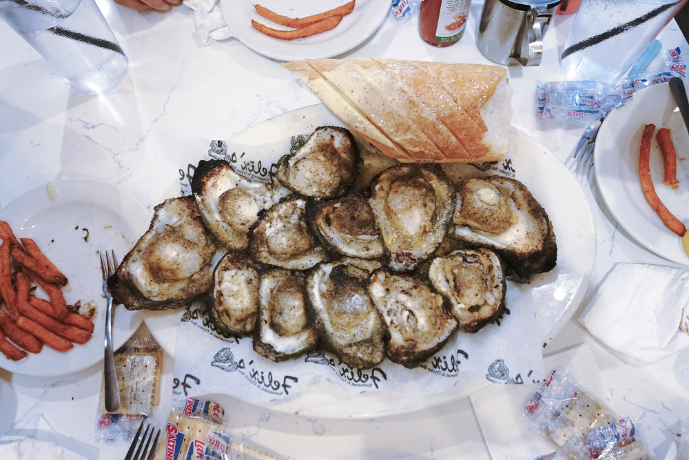 Chargrilled Oysters at Felix's Restaurant & Oyster Bar