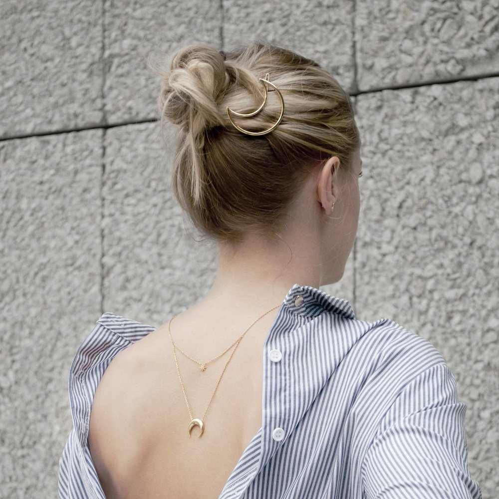 Crescent And Star Layered Necklace