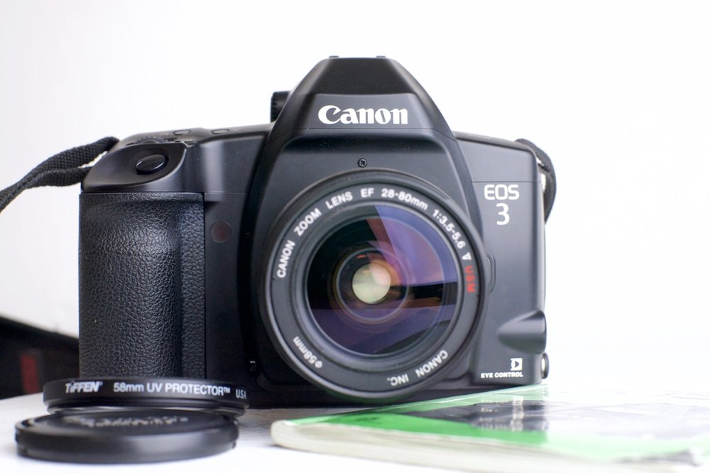 canon eos 3 professional 35mm film slr camera with canon usm 28 80mm rh fstopcameras com canon eos m3 manual pdf canon eos 3 manual francais