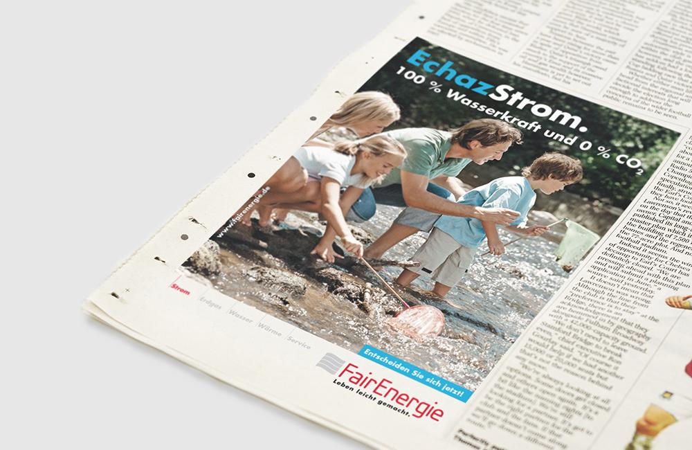 FairEnergie –   Imagekampagne,Produkt-Literatur