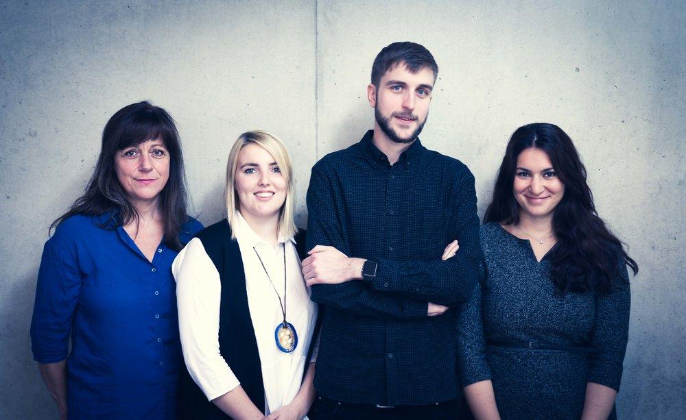 (V. l. n. r.): Christine Zierott, Tahnee Platz, Philipp Gentner, Lidija Marinkovic