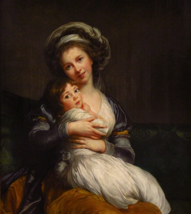 Luise Elizabeth Vigee LeBron  Self Portrait with daughter  1786