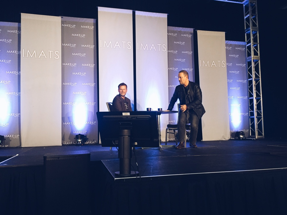 Joel on the main stage with Michael the executive producer of IMATS!