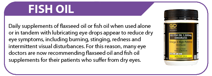 Fish oil eye health