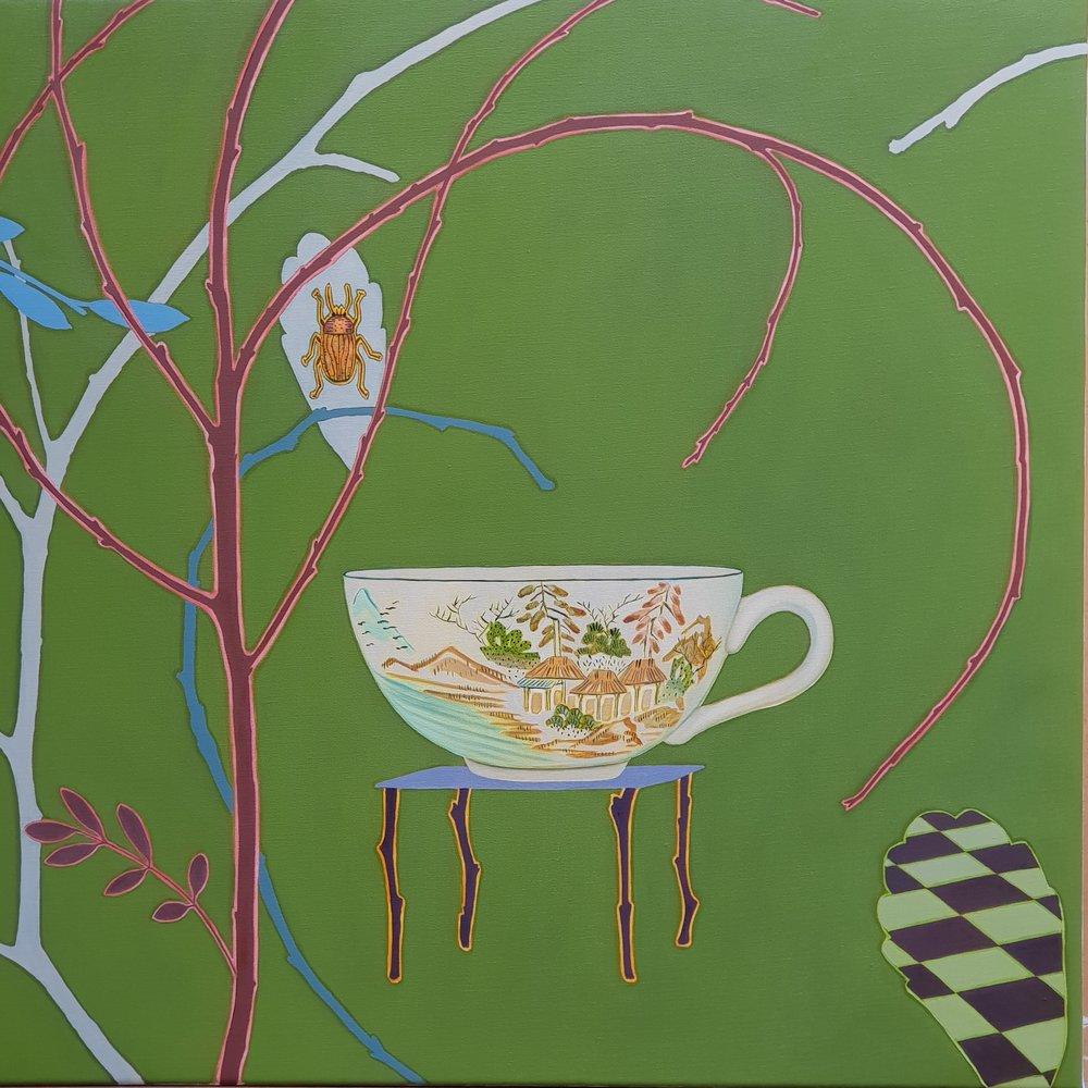 Bug Scene  92 x 92 cm  oil on linen