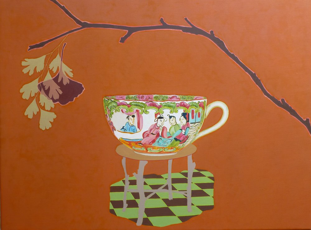 Gingko Cup  76 x 102 cm  oil on linen