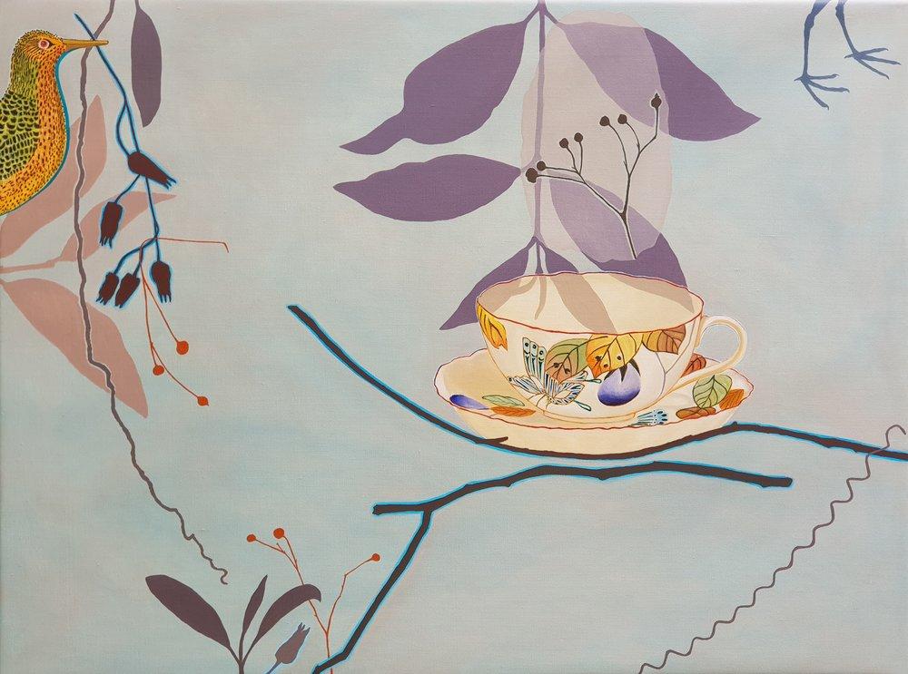 Nest Time  76 x 102 cm  oil on linen