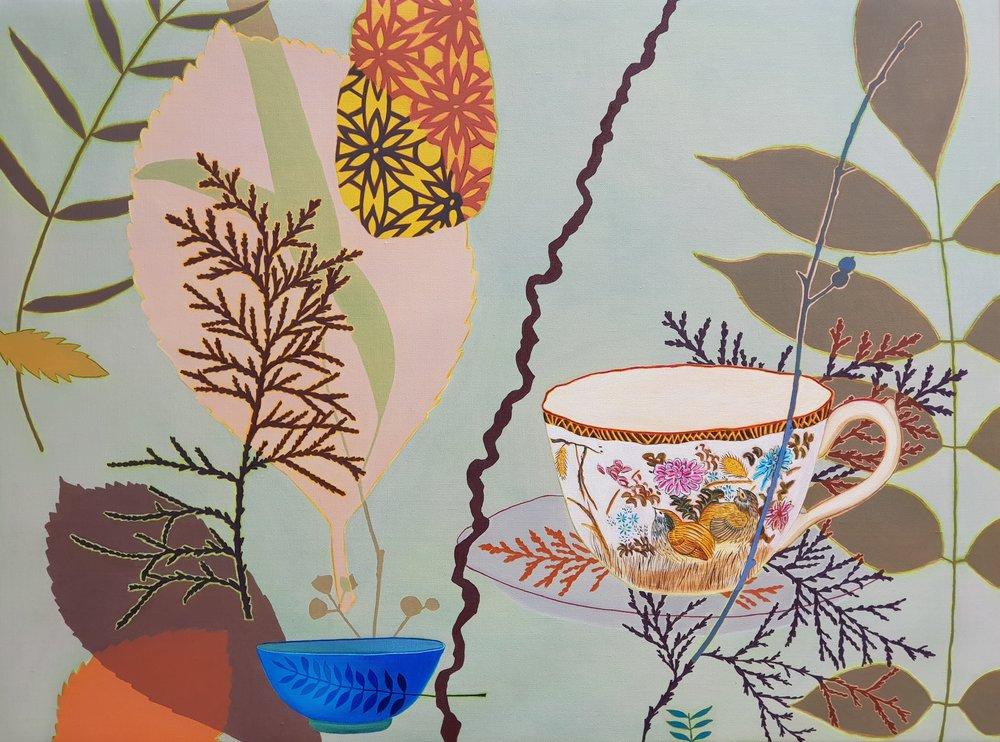 Bird Frond  76 x 102 cm  oil on linen