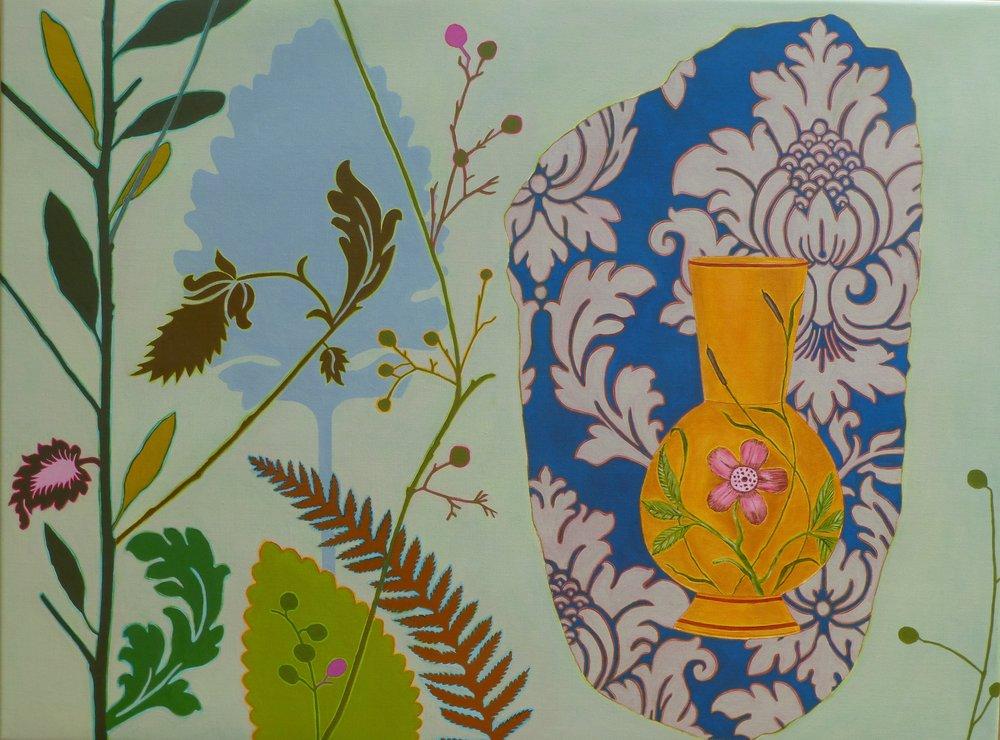 Wall Paper  76 x 102 cm  oil on linen