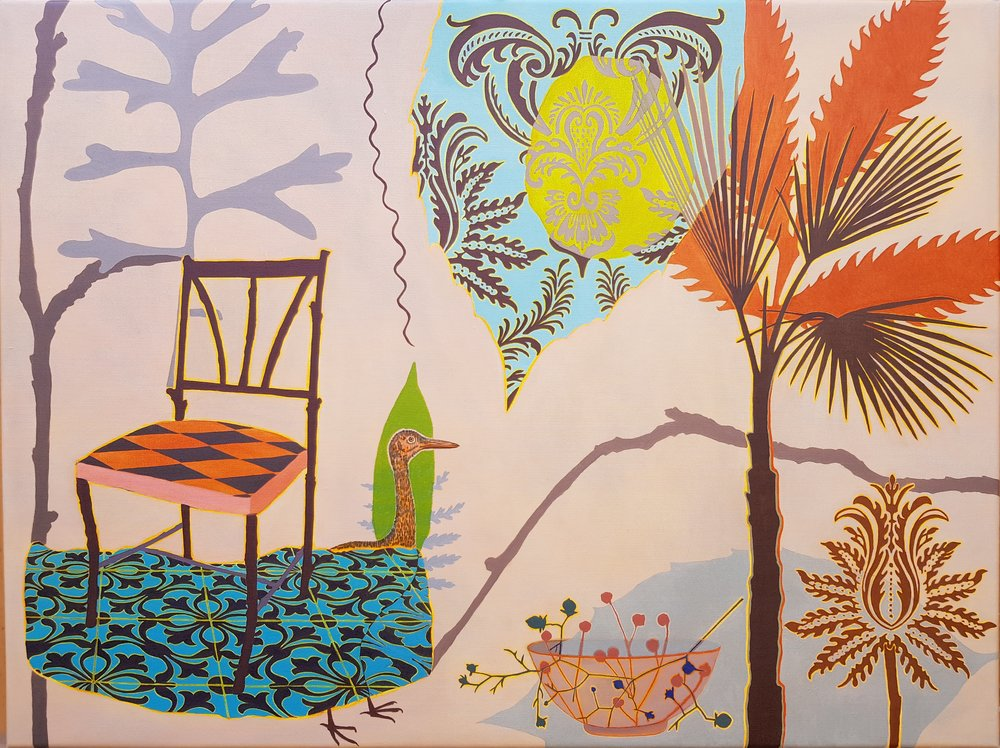 Palm Chair  76 x 102 cm  oil on linen
