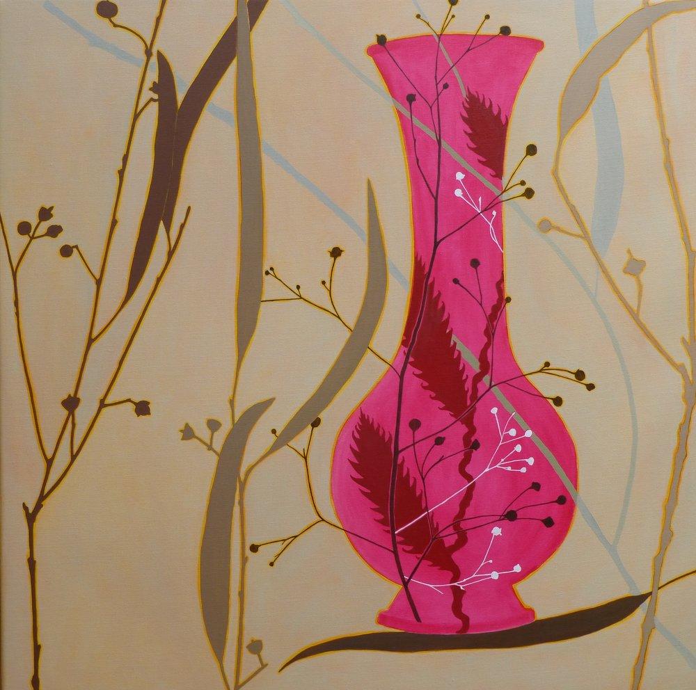 Pink Vase  92 x 92 cm  oil on linen