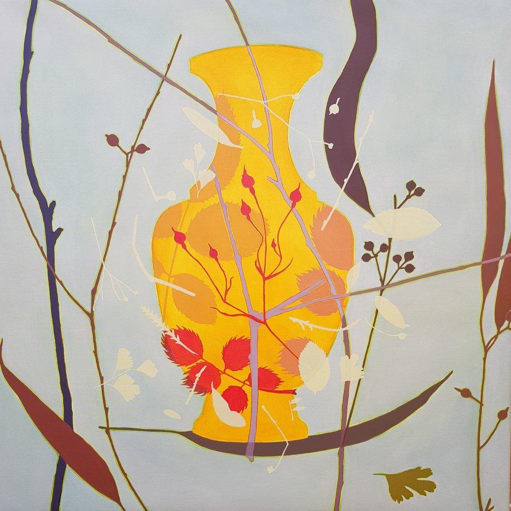 Yellow Vase  92 x 92 cm  oil on linen