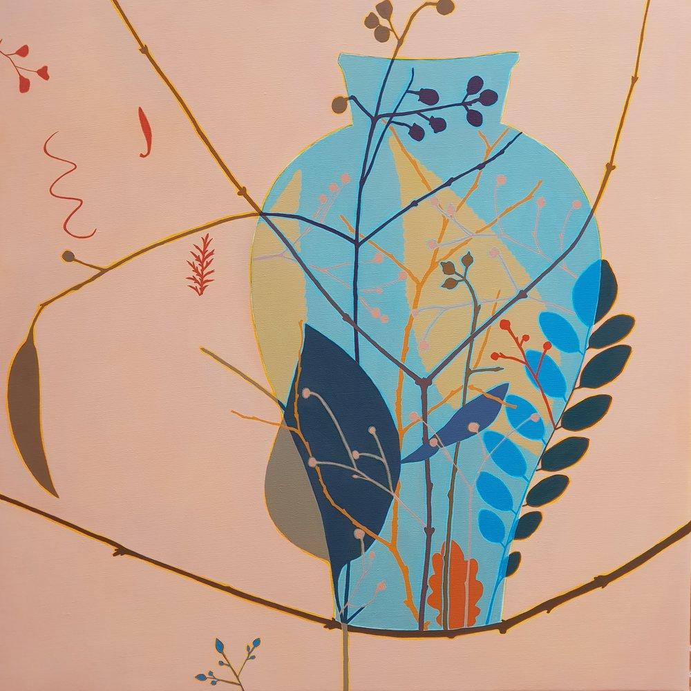 Blue Vase  92 x 92 cm  oil on linen
