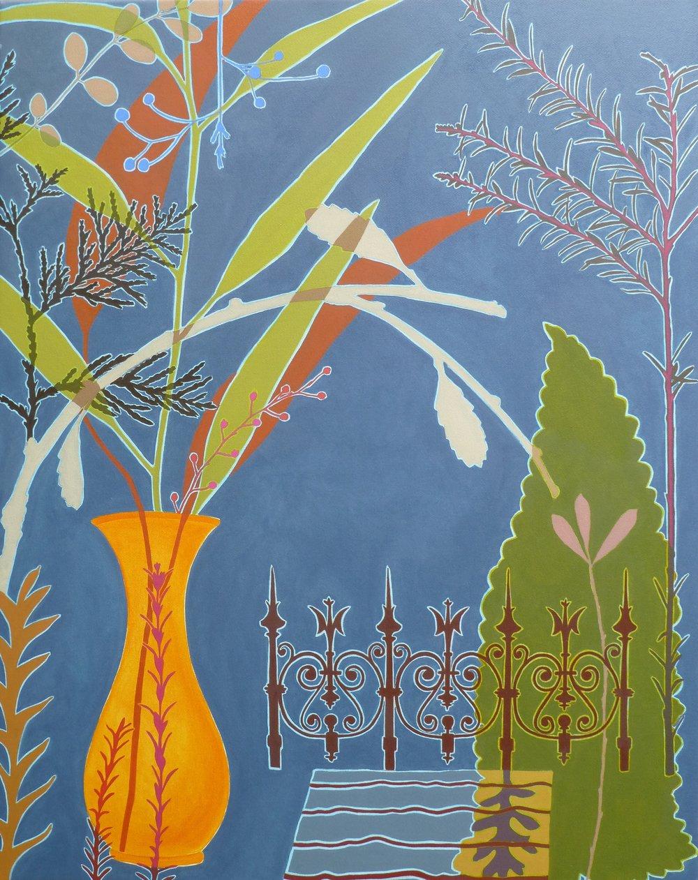 Leaf Spear  96 x 76 cm  oil on linen