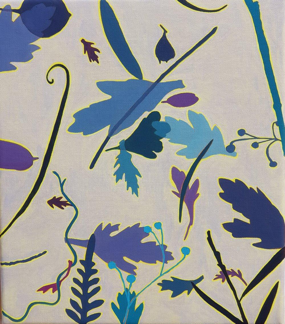 Leaf Litter 3  41 x 36 cm   oil on linen