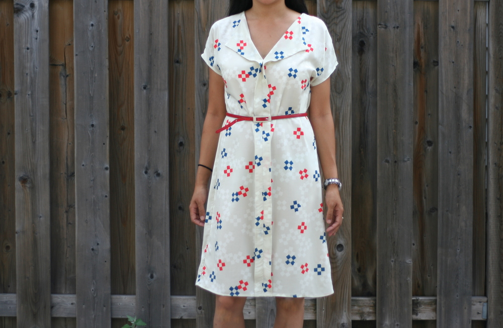 Seen here in Cotton + Steel rayon, dress view.