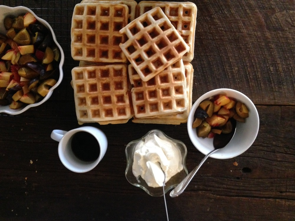 Spelt waffles with coconut oil