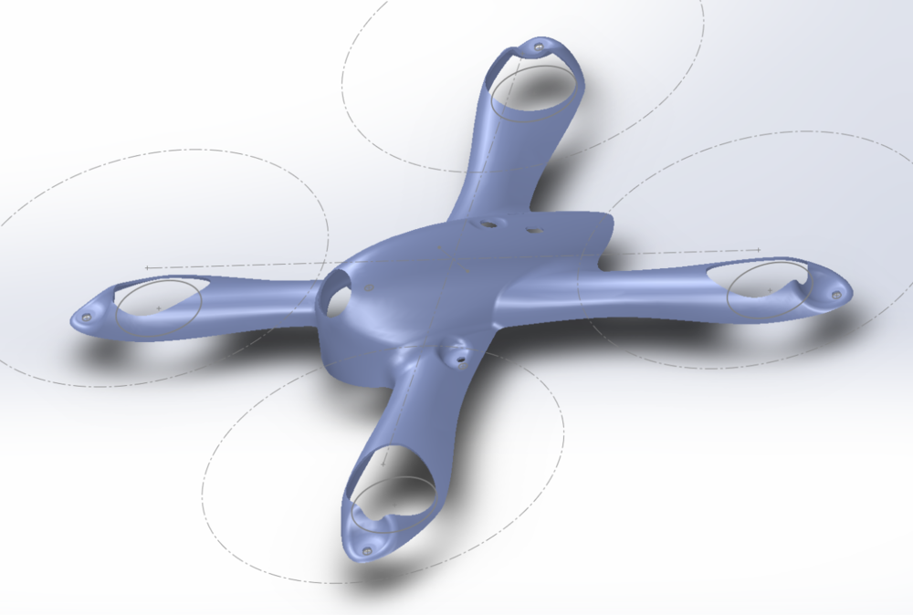 This was, um, a bit of a challenge for one's first Solidworks project.