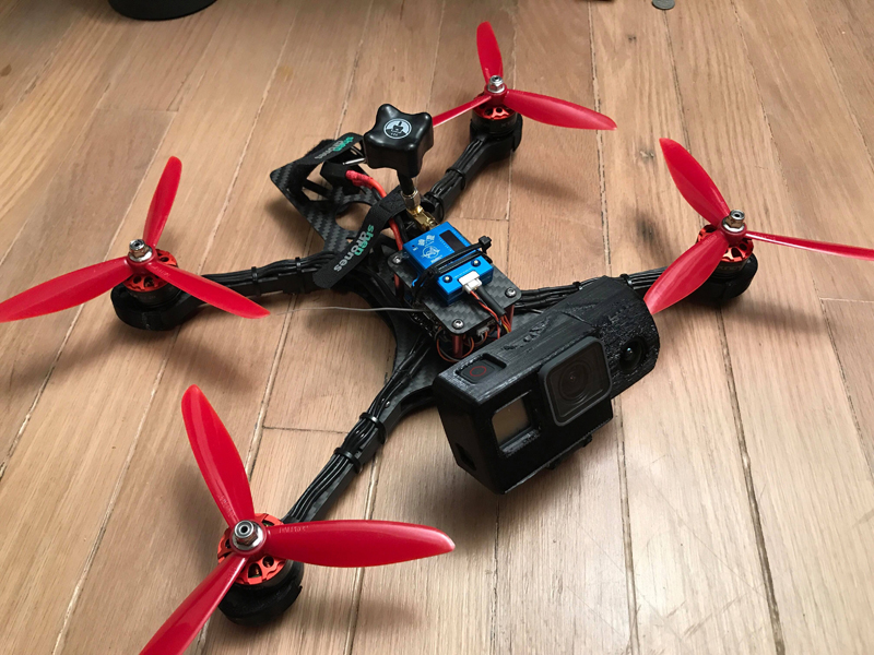 Randy requested a fixed angle fpv mount, since he always wants to see what the GoPro sees.