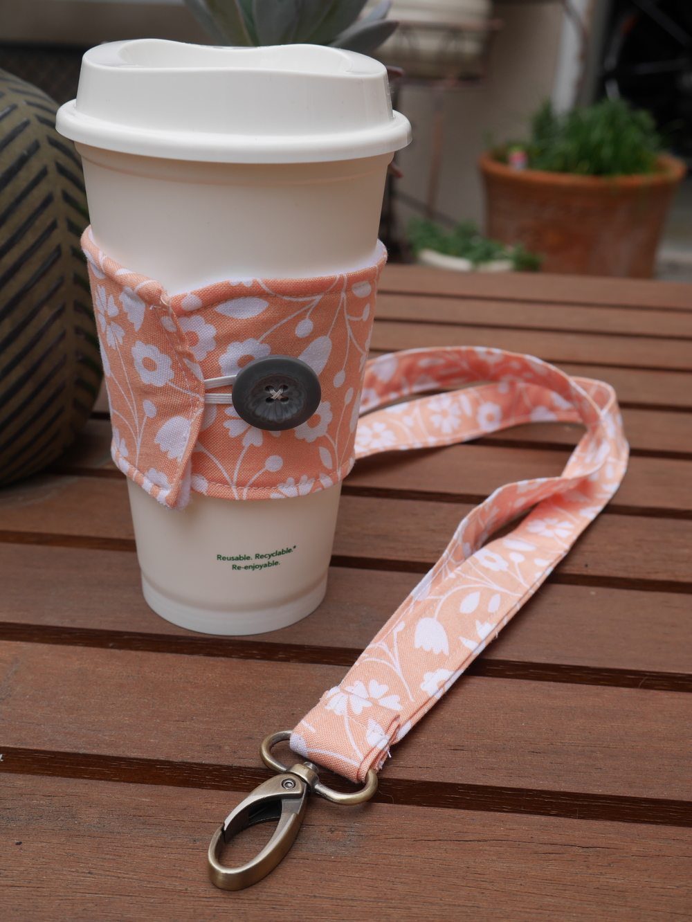 Lanyard and Coffee Koozie, a gift for a teacher friend
