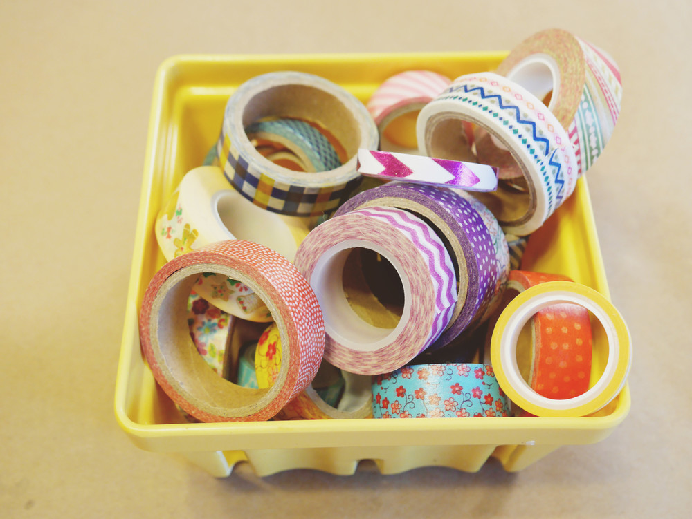 My favorite!  Washi tape.