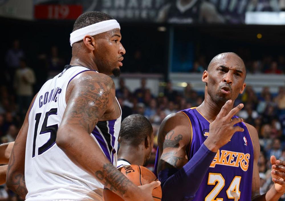 PHOTO TIRÉE DE TWITTER DeMarcus Cousins, dit Boogie, et Kobe Bryant. Pourrait-on les voir dans la même équipe très prochainement?