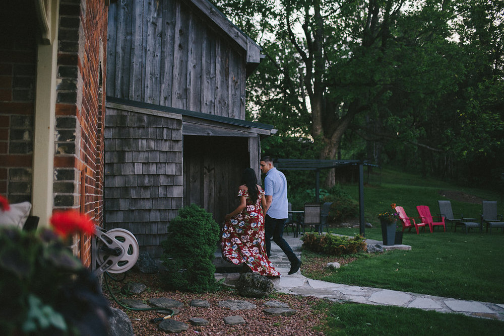 Cabin On The 9 Orangeville Engagement Photographer