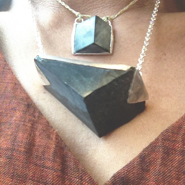 #Blessed with pieces of home close to my heart. Aroha to @mirror_plateaux for resetting #pounamu piece I traded her for my #impishbaby clothes 3 years ago on #waihekeisland. Extra gifted small #greenstone prism on flax. #supporthandmade