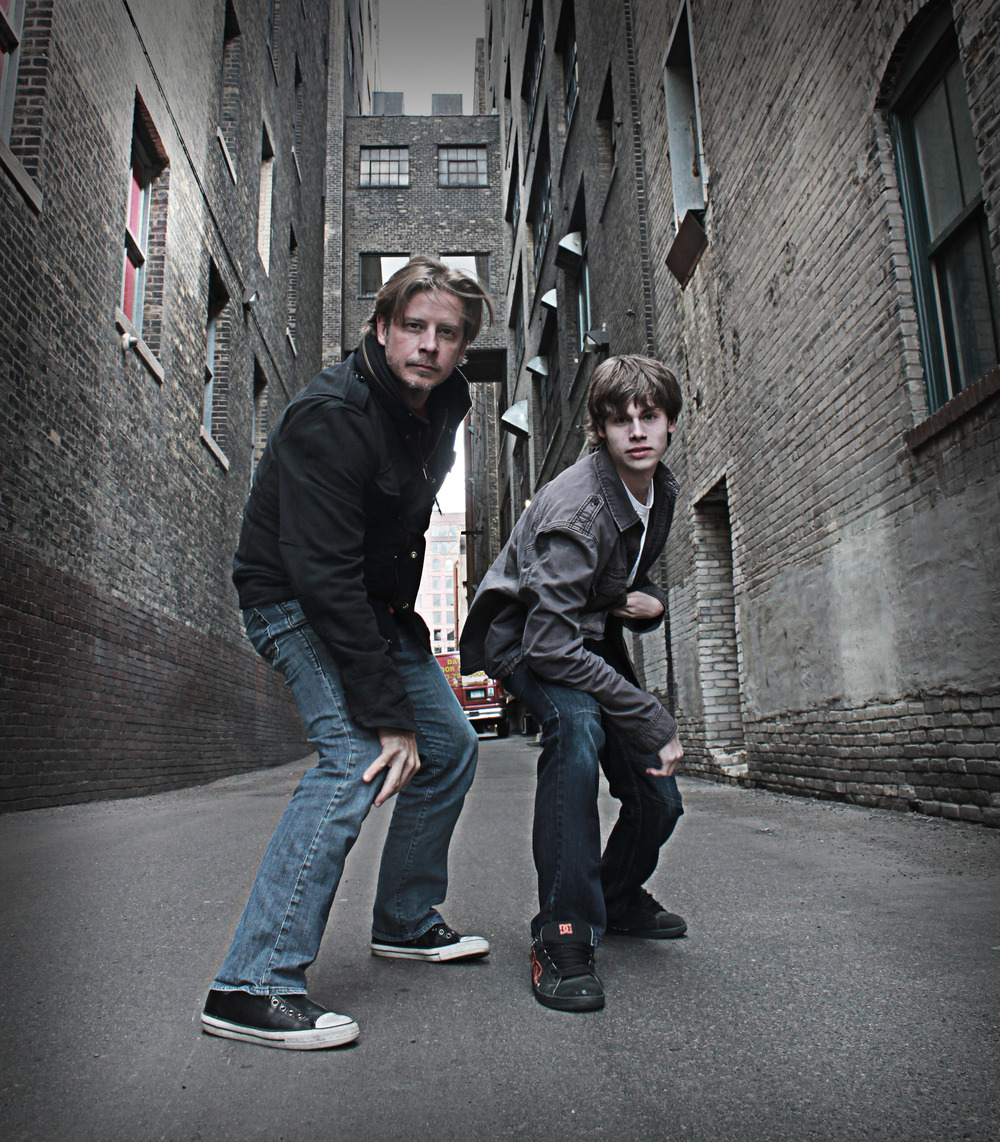 Bryan and his son Taylor patrolling the mean streets of Minneapolis, looking for trouble.