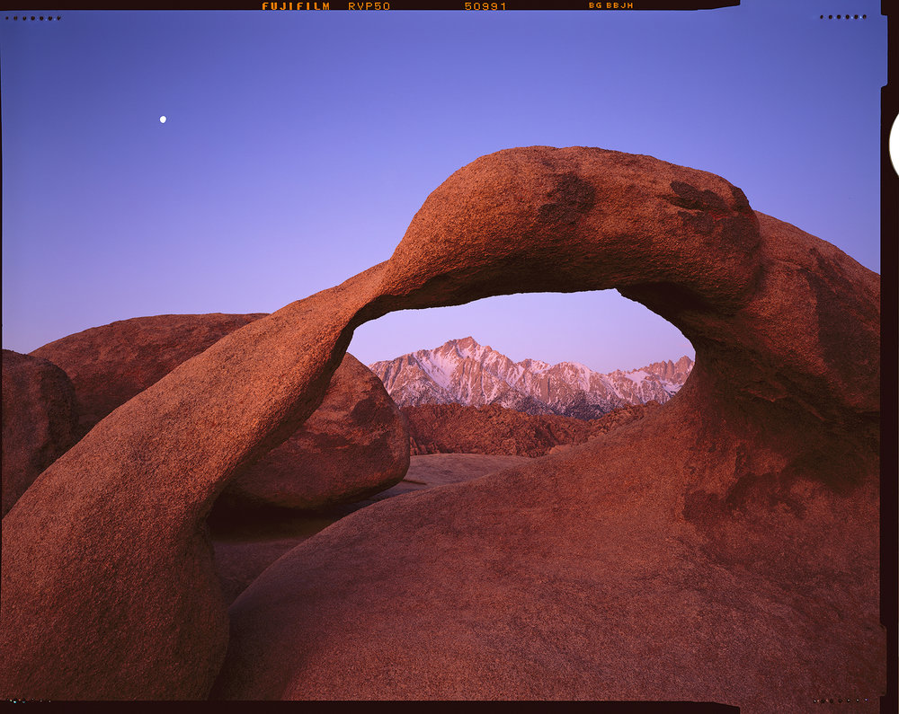"""Moon over Mobius"" - A sheet of 4x5 Velvia 50, drum scanned on Michael's Heidelberg Tango drum scanner"