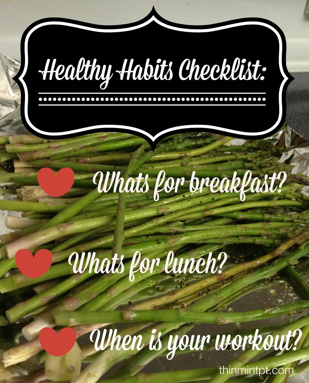 Healthy Habits Checklist