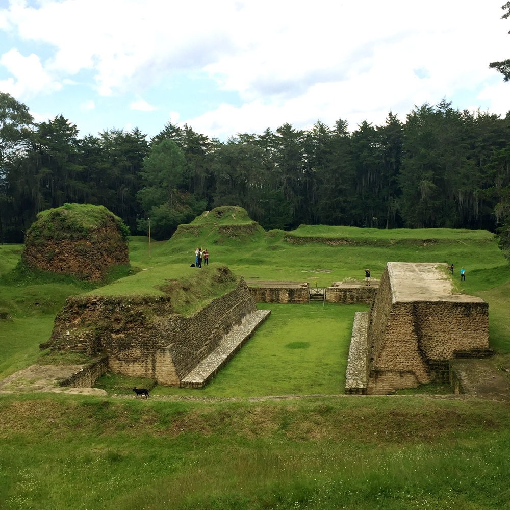 What is a great Mayan city without a ball court?