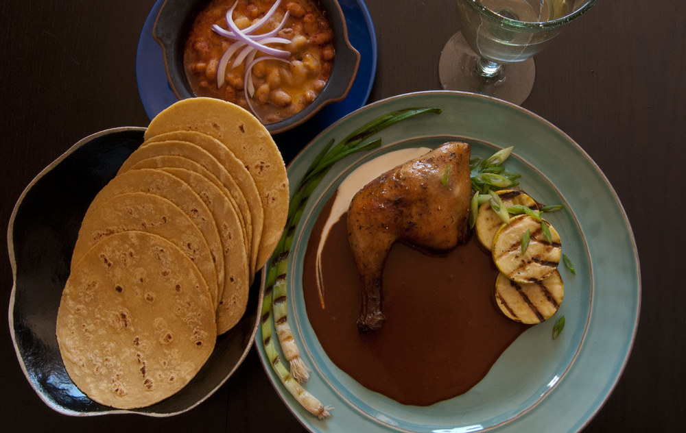 Our Mole Negro sauce over roasted chicken - Click image to enlarge