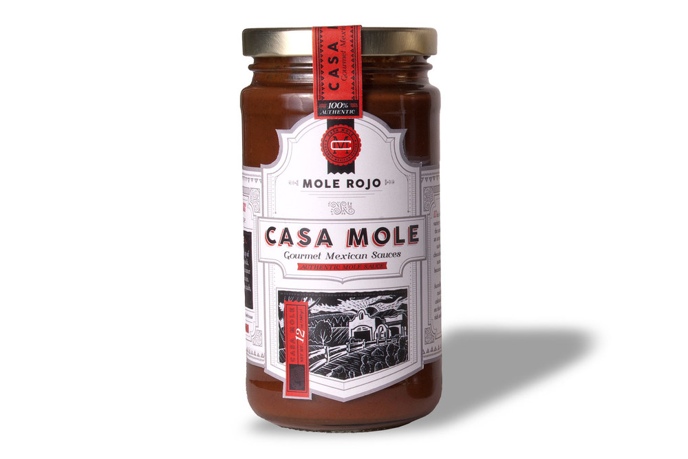 This recipe is comparable to the one we use for our Mole Rojo. You can save time, and still get the same great taste by buying a bottle now. Just $12.95 ea. Serves 6 to 8 people. Click here to purchase.