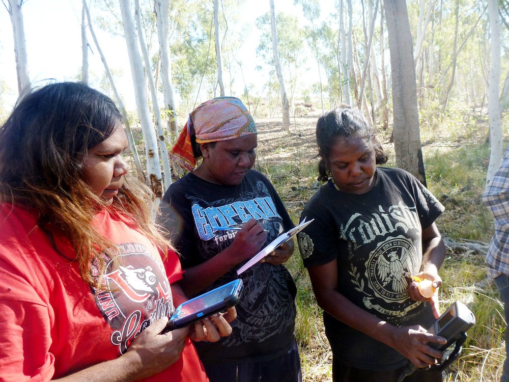 Jigalong rangers conducting water monitoring