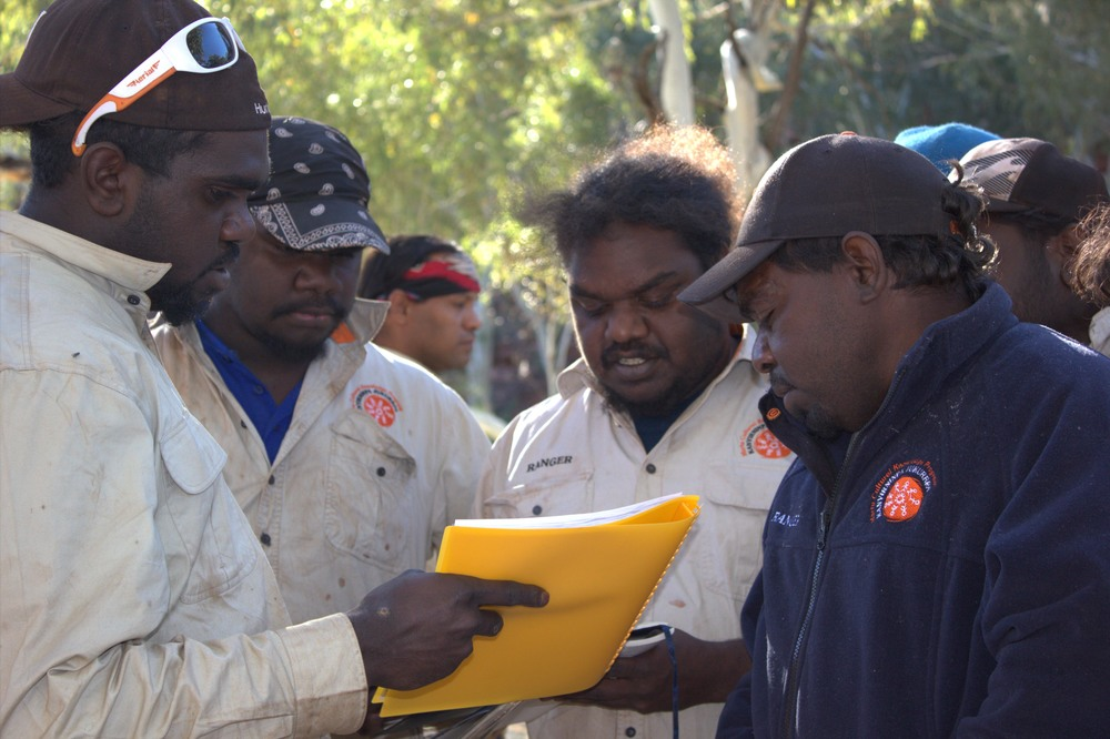 Jigalong rangers checking tourist permits on the Canning Stock Route