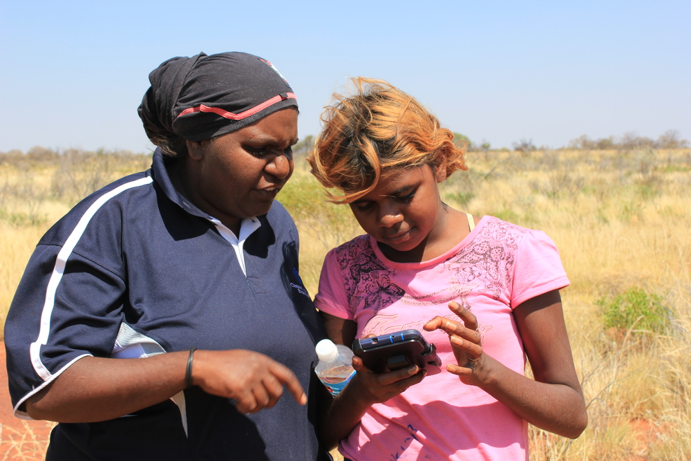 Jigalong women rangers conducting fauna monitoring