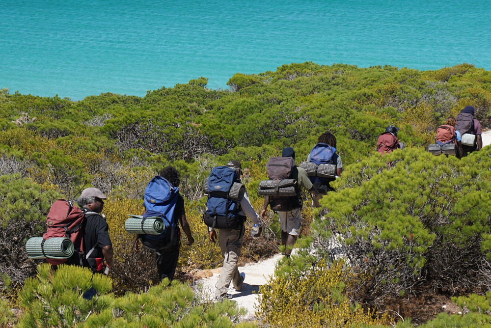 Leadership program participants on the Cape to Cape hike